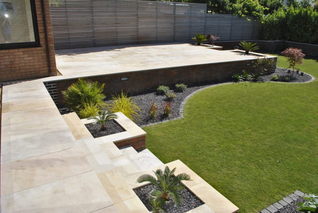 contemporary small garden design